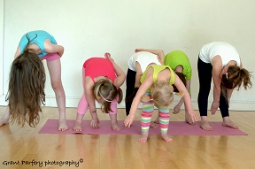 child's uttanasana variation